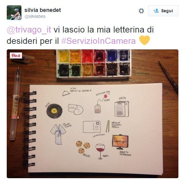 Il tweet di Silvia