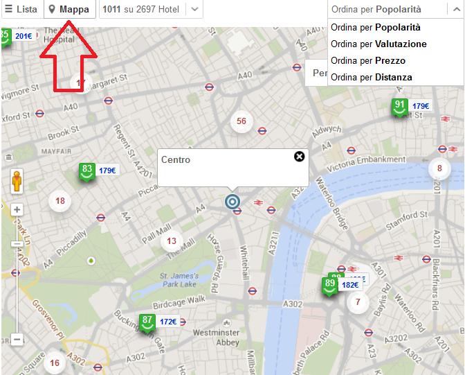 Ricerca hotel su mappa per punto d 39 interesse nuove funzioni trivago room5 - Londra punti d interesse ...