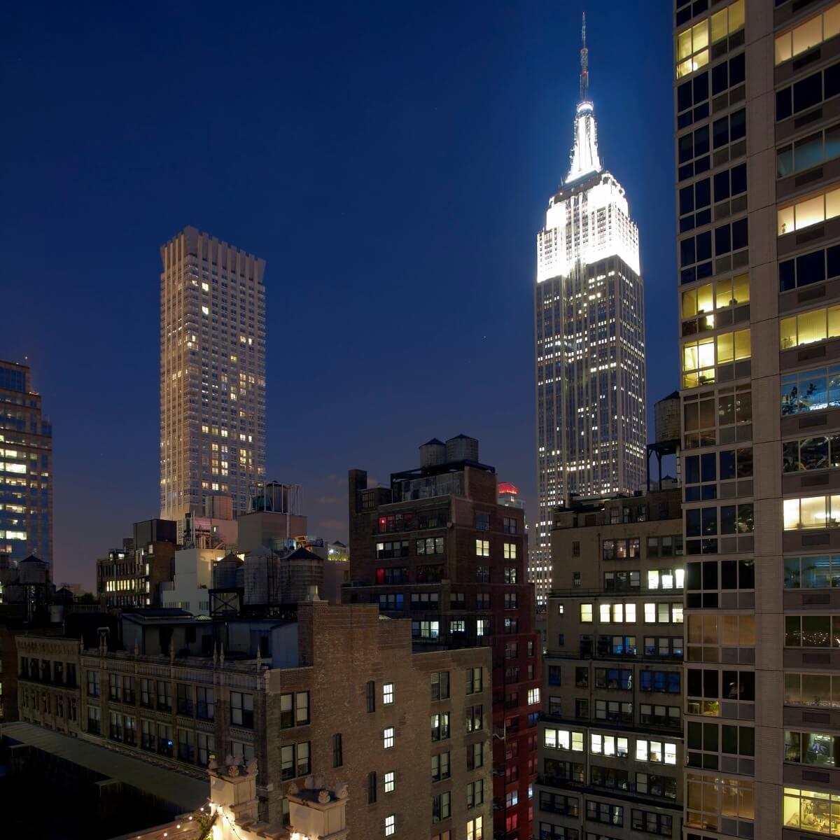 Refinaria hotéis com vista em Nova York empire state building