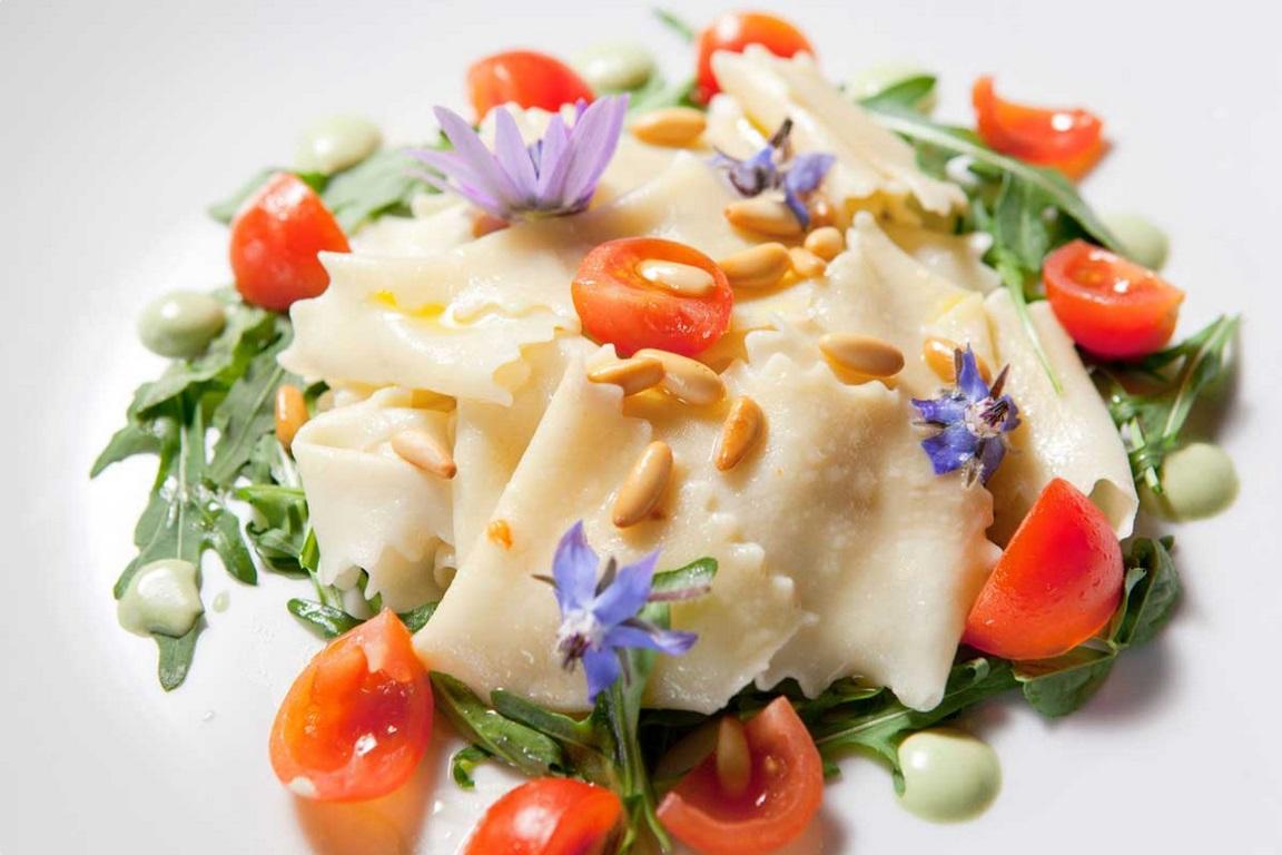 Uno dei piatti del ristorante del Tenuta San Pietro
