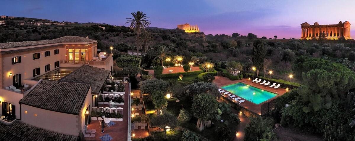 Villa Athena hotel com vista na Itália