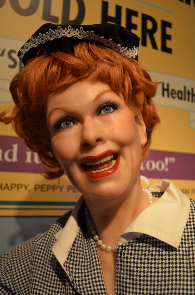 Lucille Ball in wax in Pigeon Forge