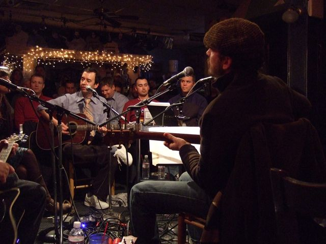 Nashville musicians at the Bluebird Cafe