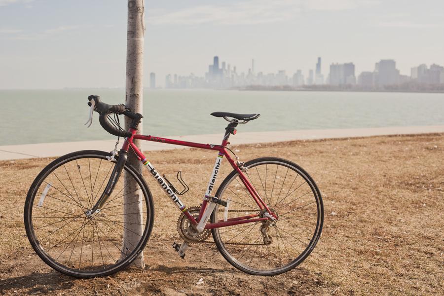 Lake Michigan Chicago bike ride