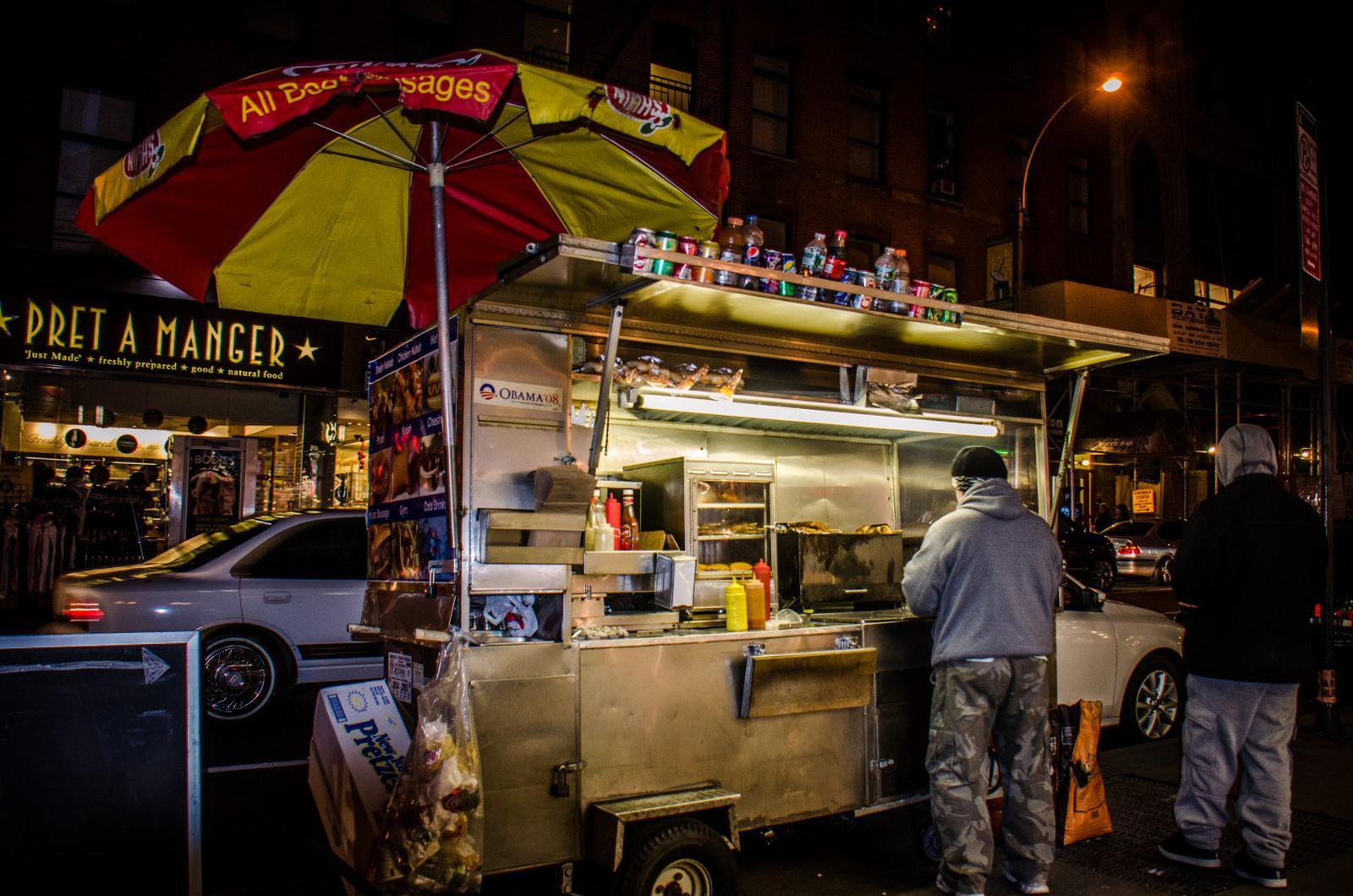 Gyros food cart New York City
