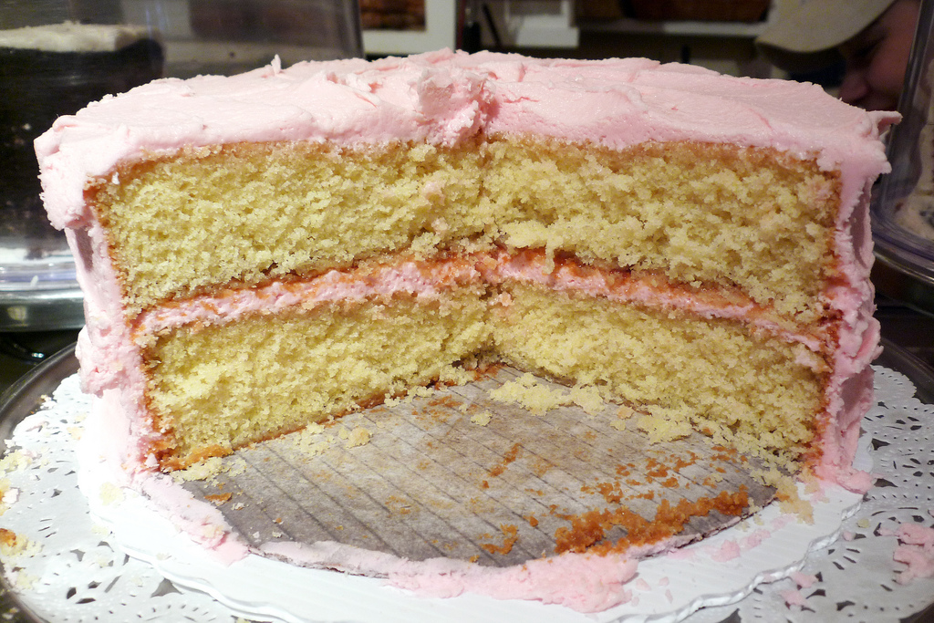 Amys Bread Yellow Cake and Pink Frostng NYC