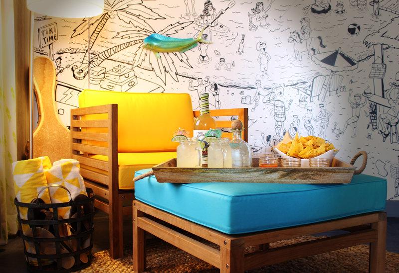 Jimmy Buffet Themed Hotel Room Denver