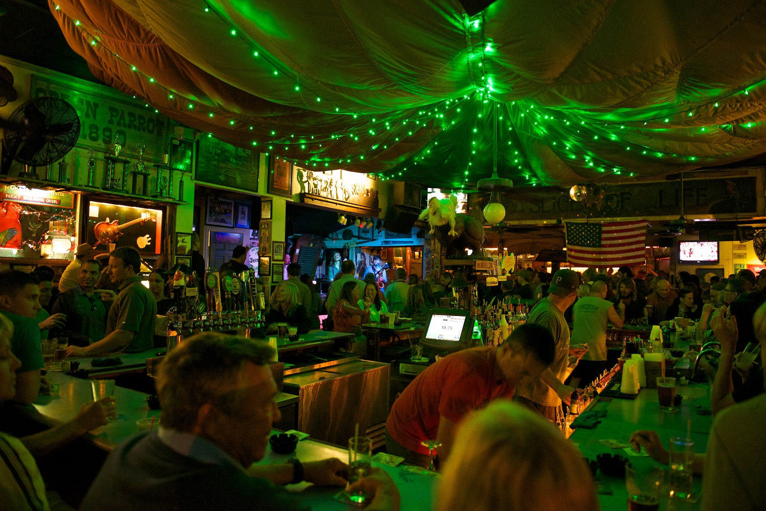green parrot bar, key West, Florida