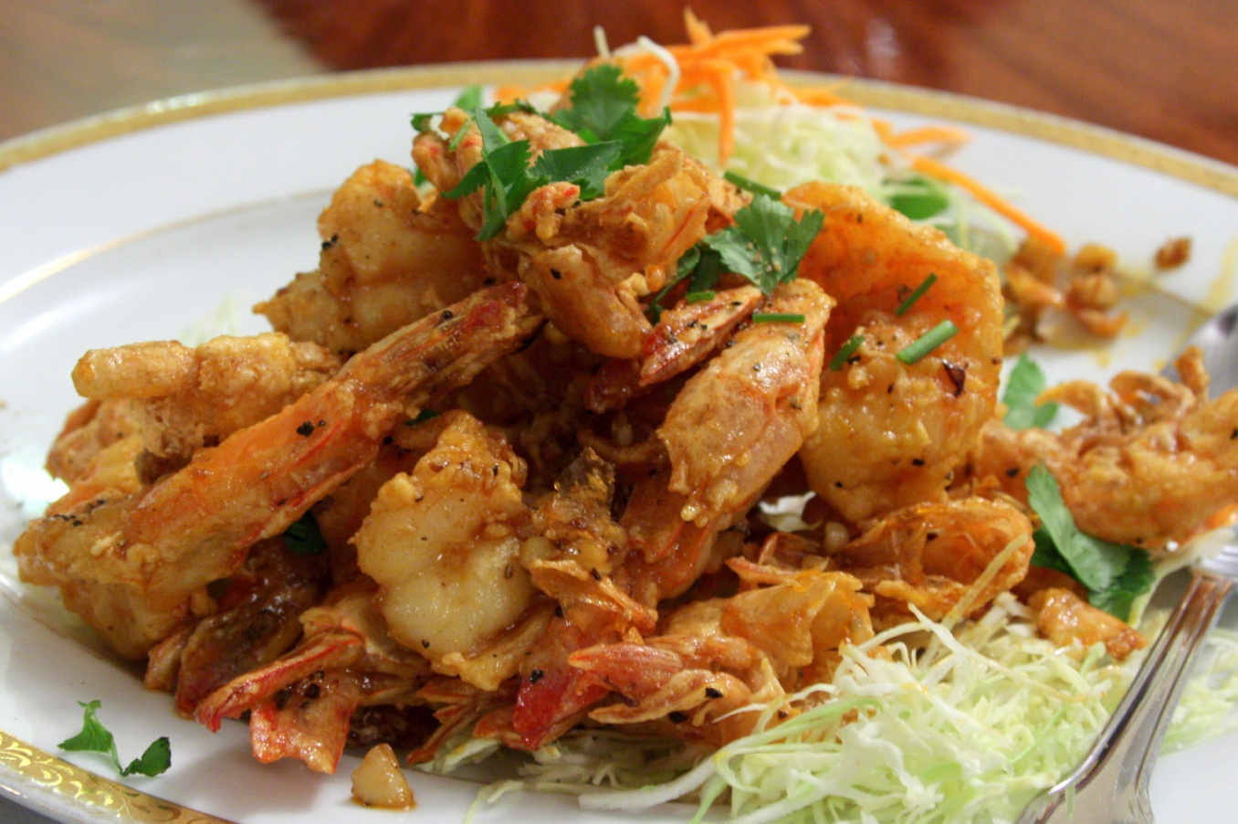 Garlic Prawns at Lotus of Siam