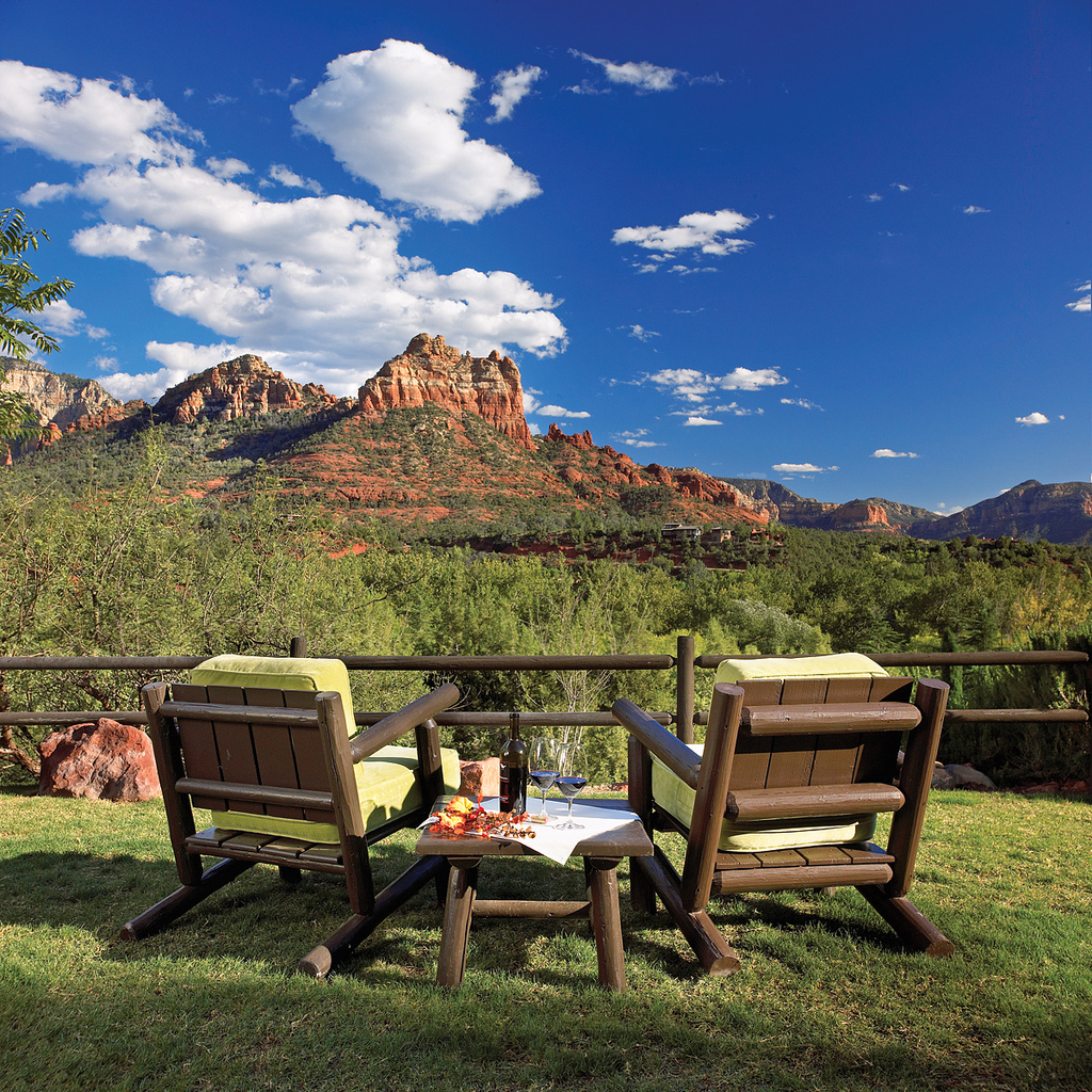 View from L'Auberge de Sedona