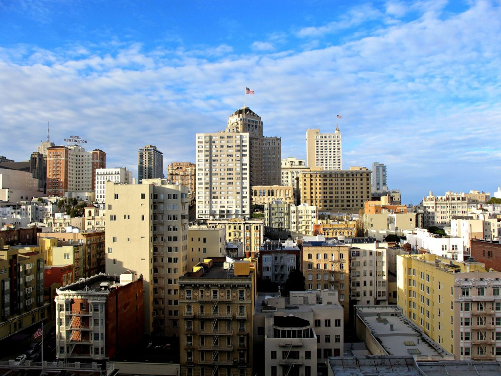 A city view of SF