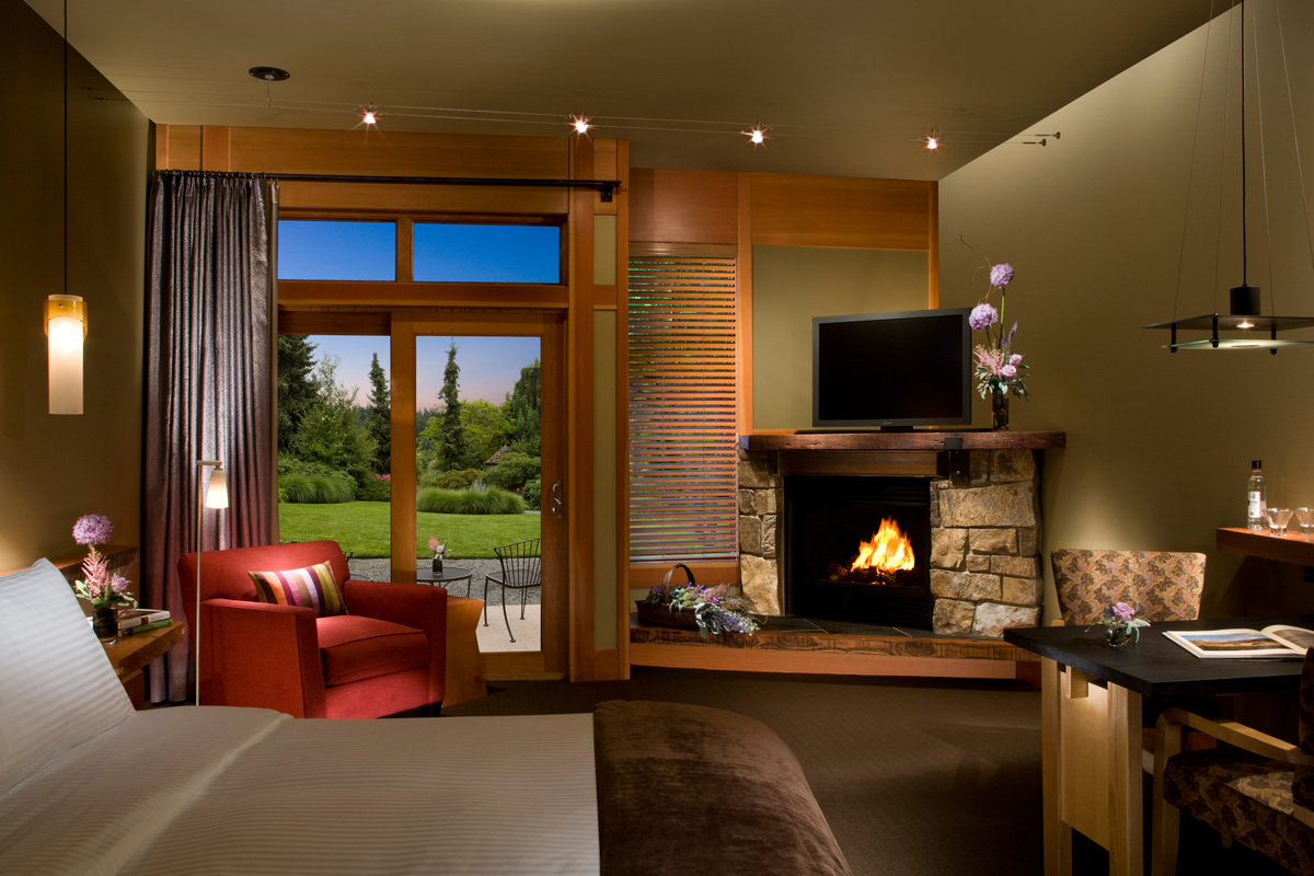 Beautiful Rooms of the Willows Lodge Hotel Seattle