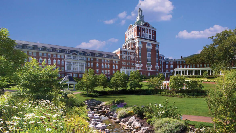 Historic American resorts Omni Homestead Virginia