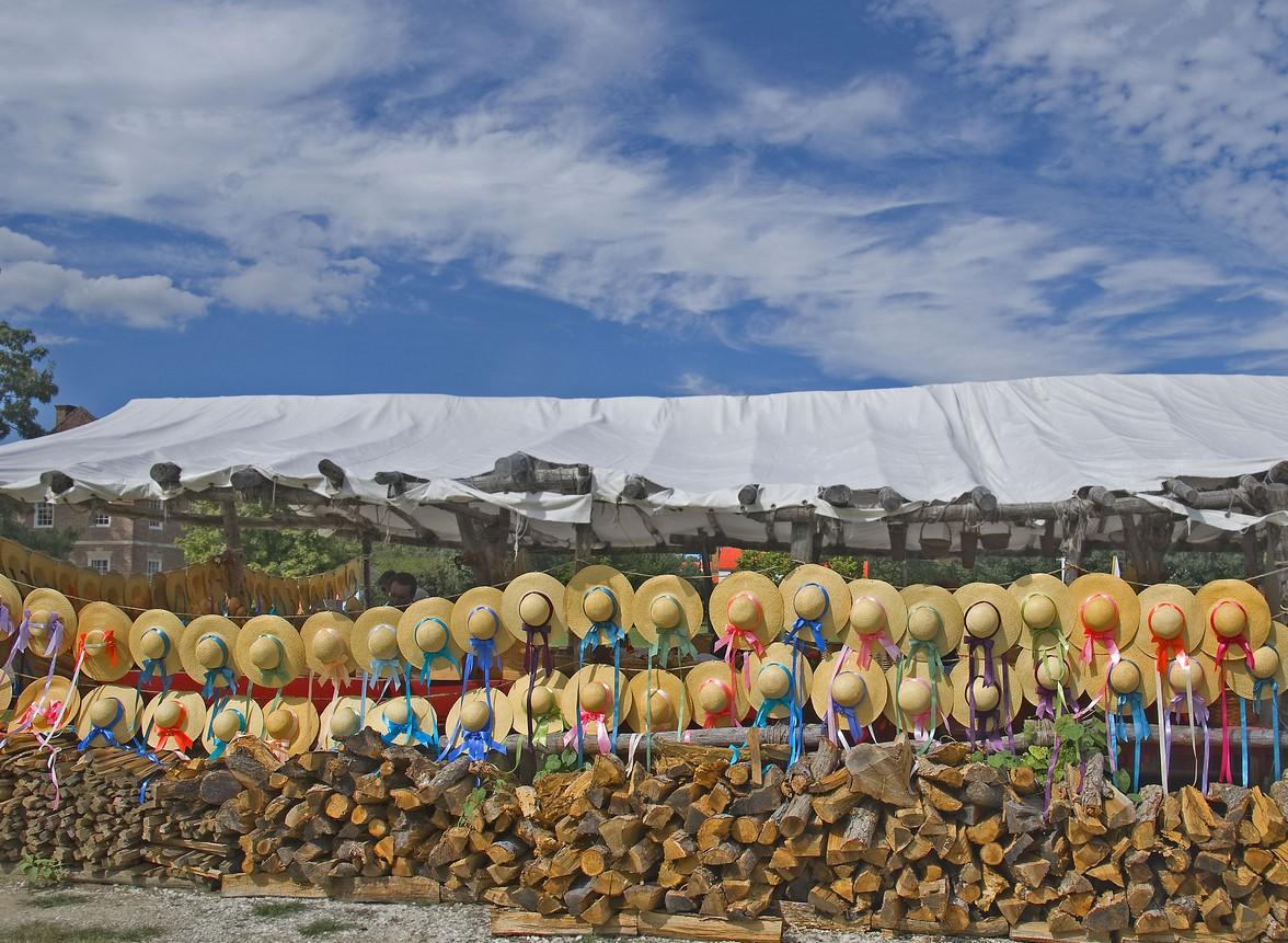 Hats in the D of G Market Williamsbutg, VA