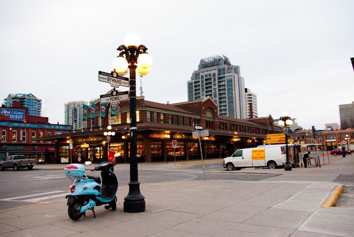 Byward Market Ottawa Canada Shopping