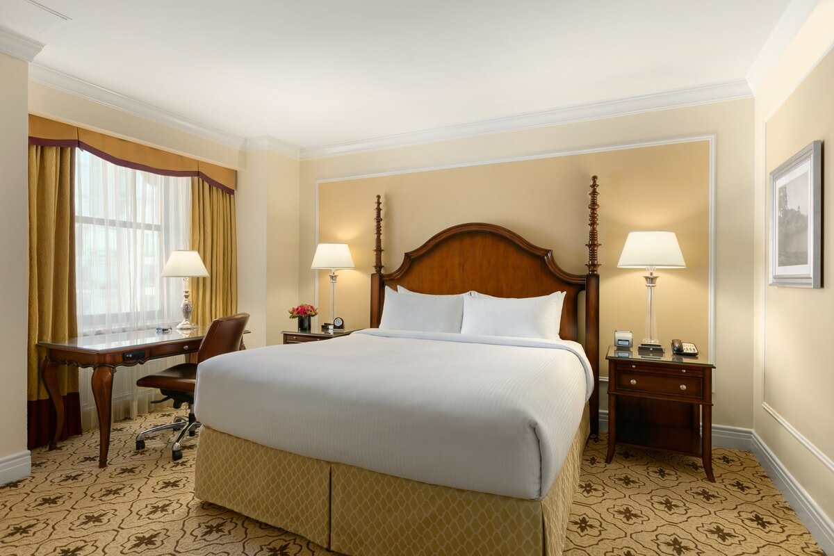 Room at the fairmont