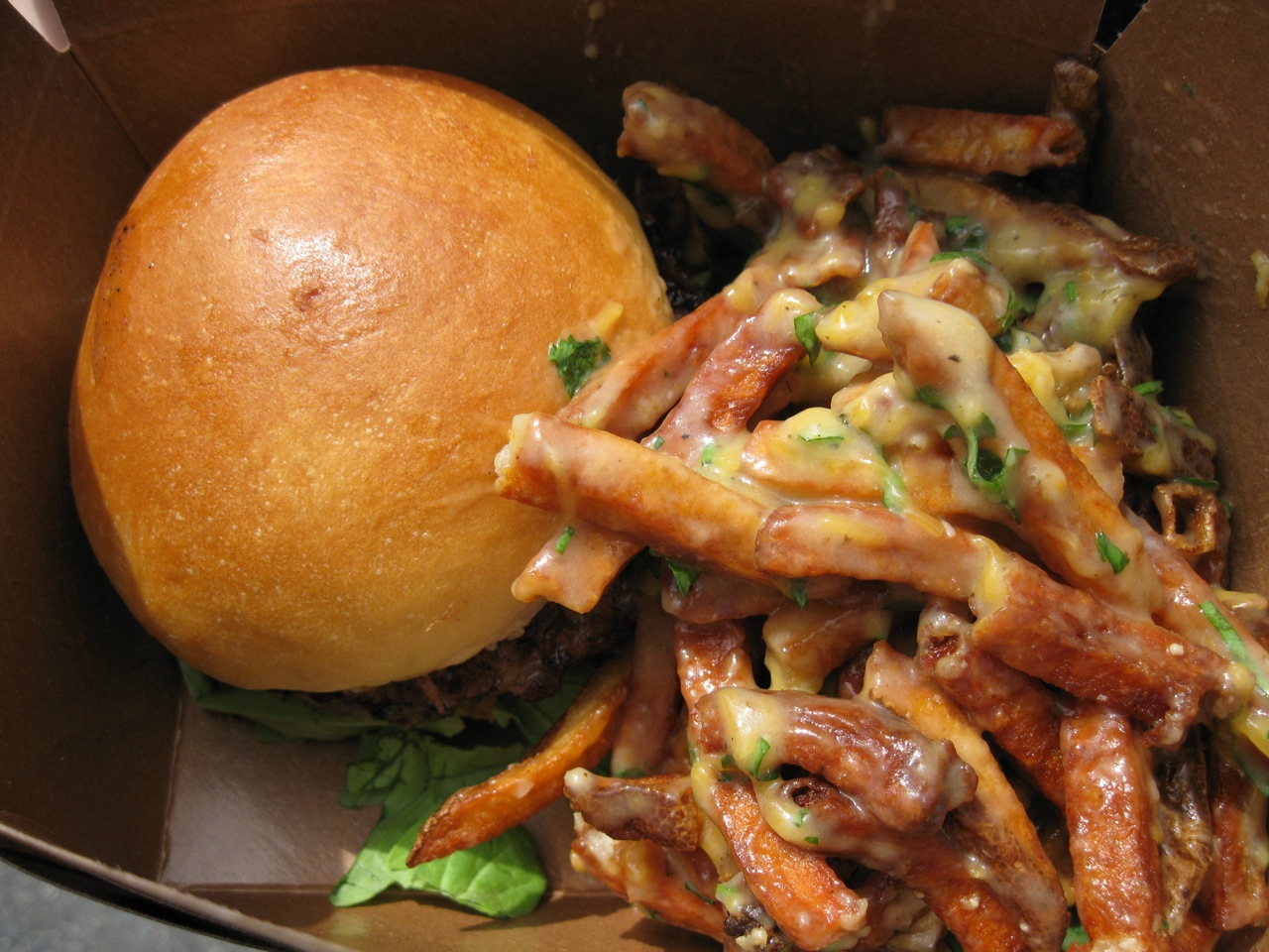 Burgers and Poutine