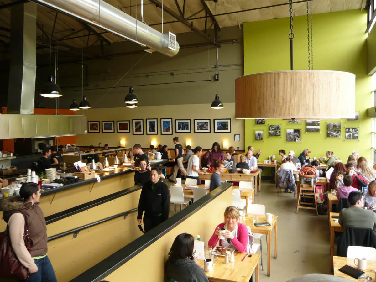 Sustainable cafe Seattle