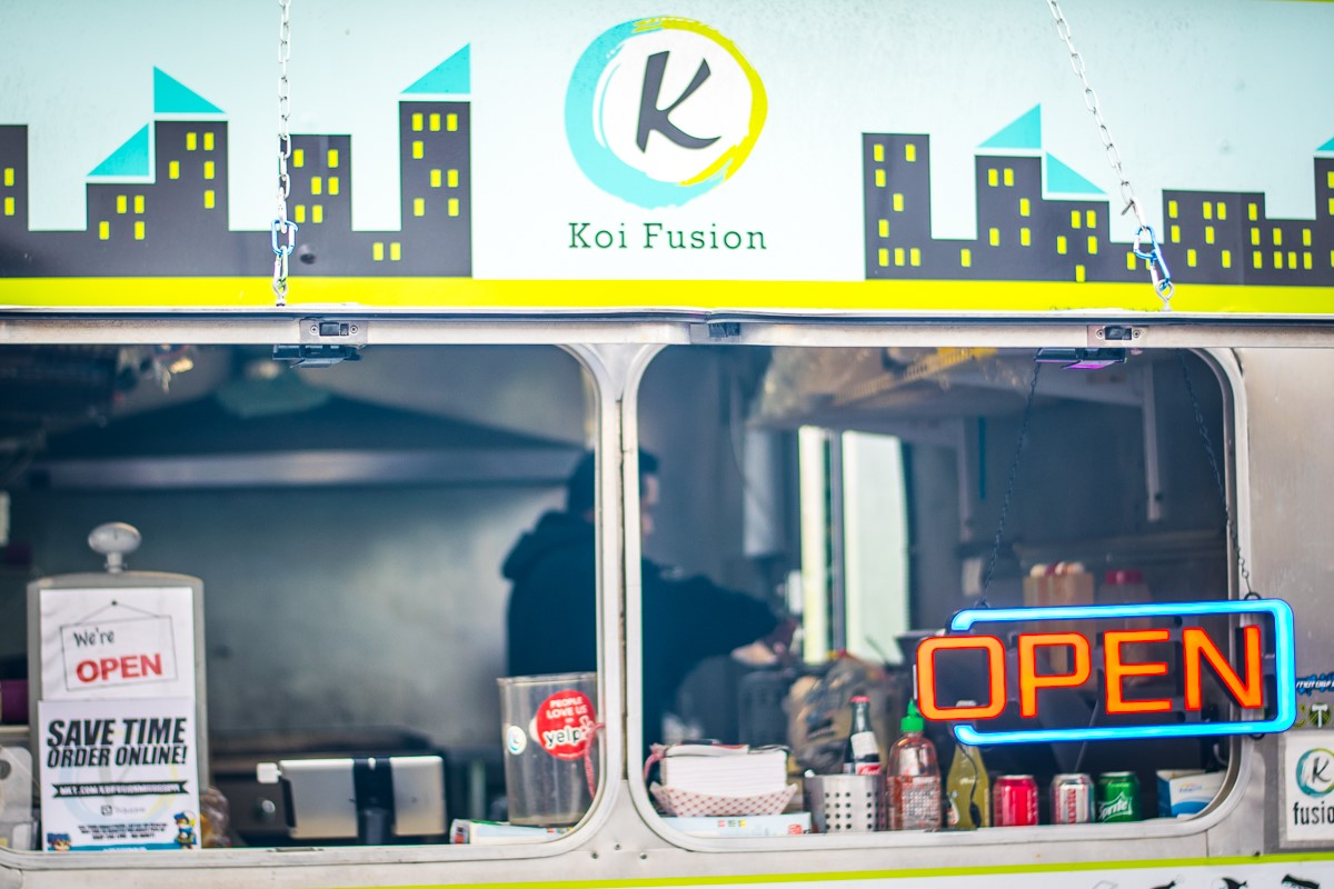 Food truck fusion in Portland. Photo by Authors.