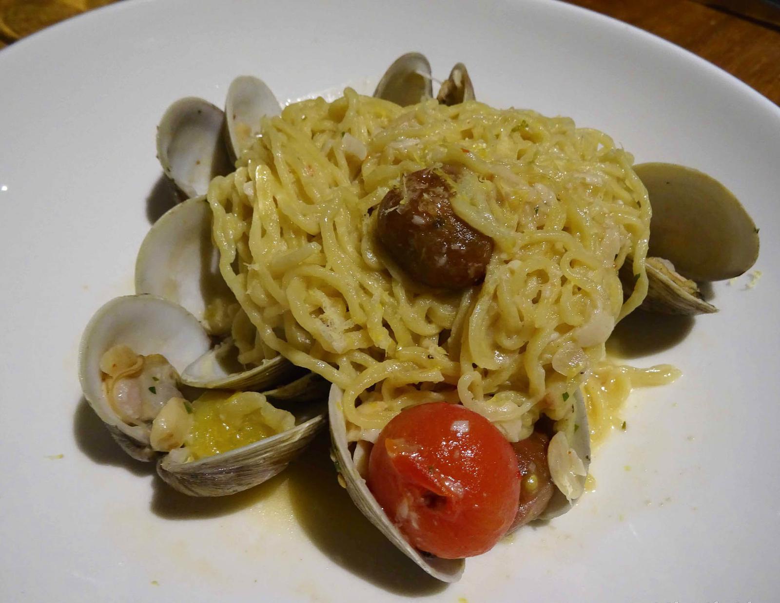 Oltremare clam pasta dish Islamorada