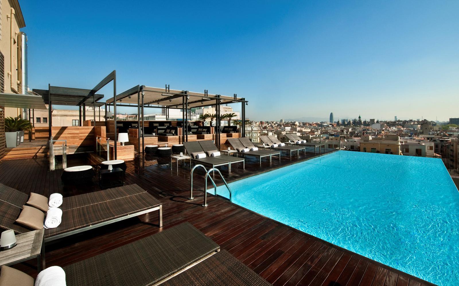 mejores terrazas de hoteles Grand Hotel Barcelona
