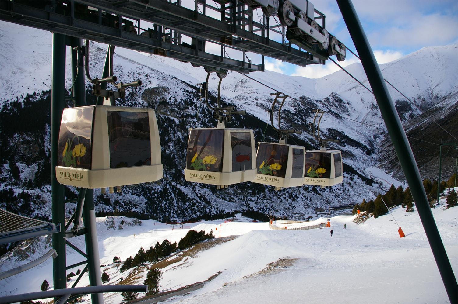 estaciones de esquí Vall de Núria (Ripollès, Catalunya)