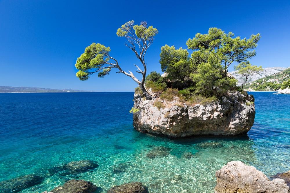 mejores playas de croacia Brela Croacia