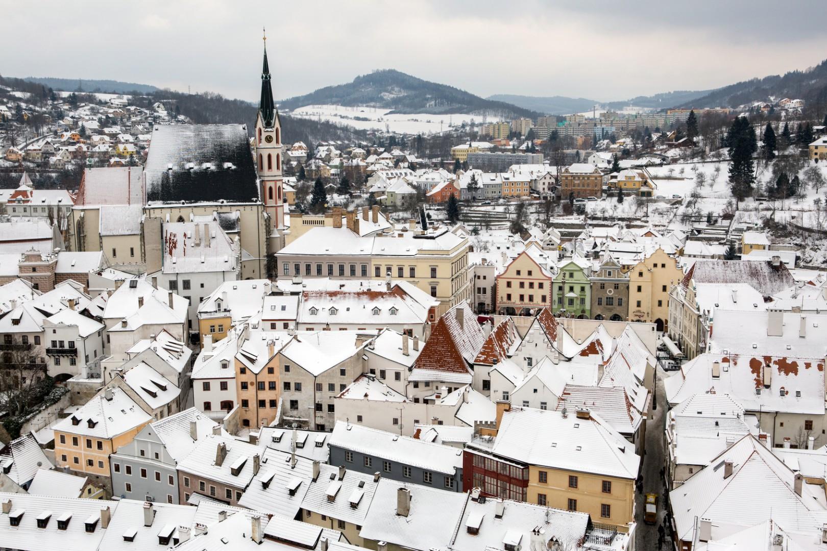 pueblos europeos de postal Český Krumlov