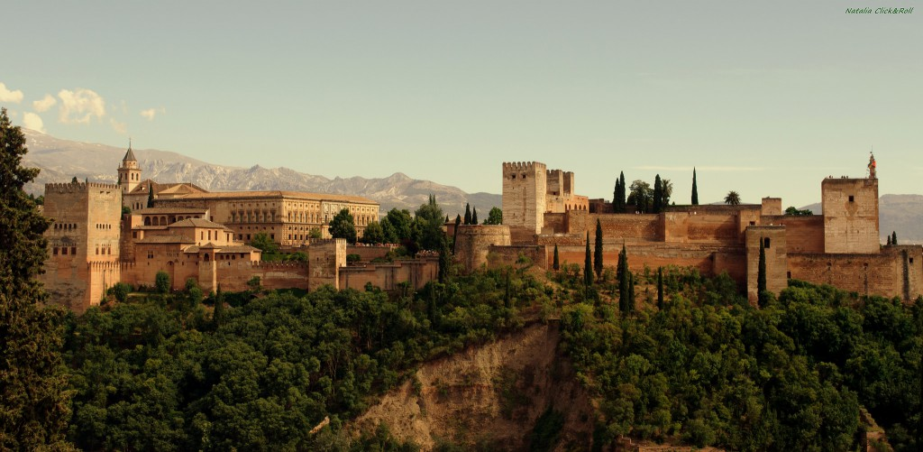 alhambra desde la plaza albaycin