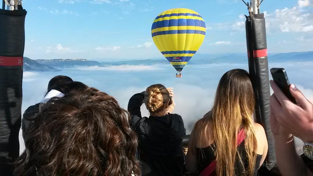 viaje en globo en barcelona