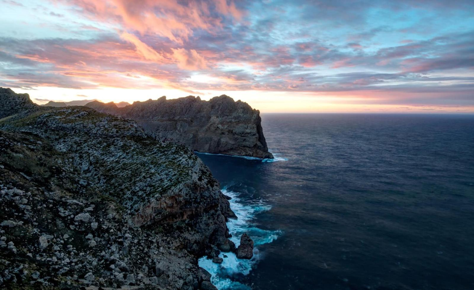 puesta de sol Cabo de Formentor, Mallorca