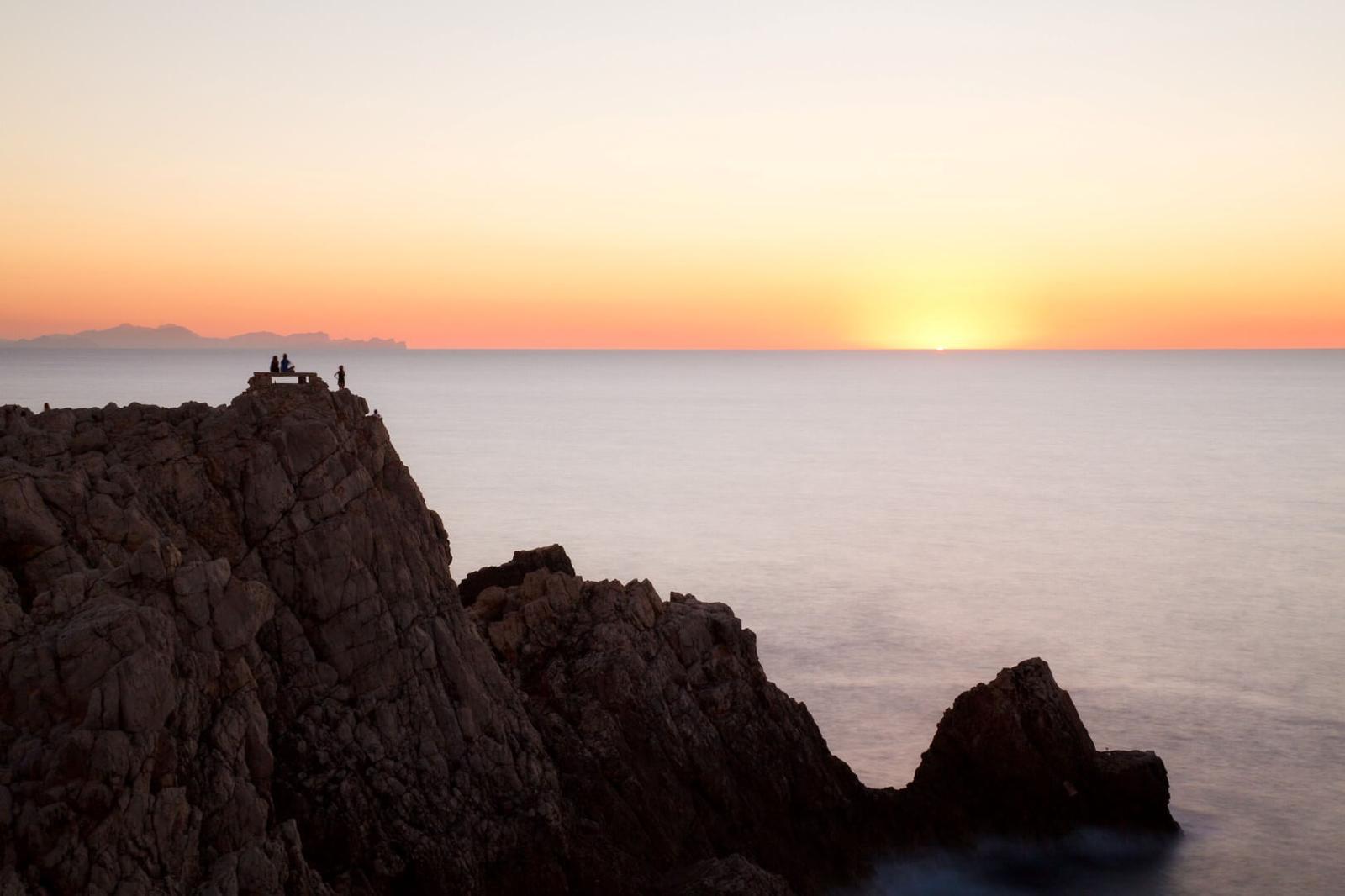 puesta de sol Atardecer desde Punta Nati en Menorca