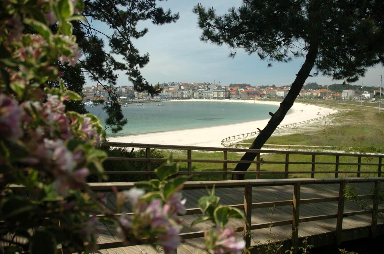 Playa Baltar en Portonovo, Sanxenxo, Pontevedra, Galicia