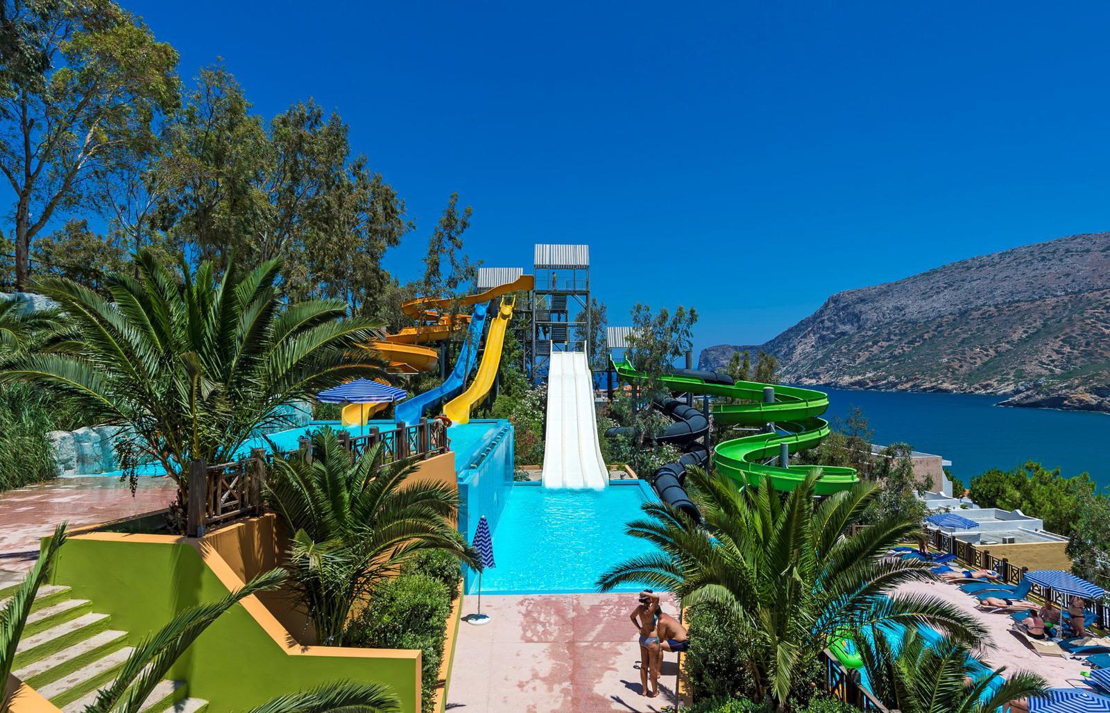 parque acuatico Fodele Beach, Creta, Grecia