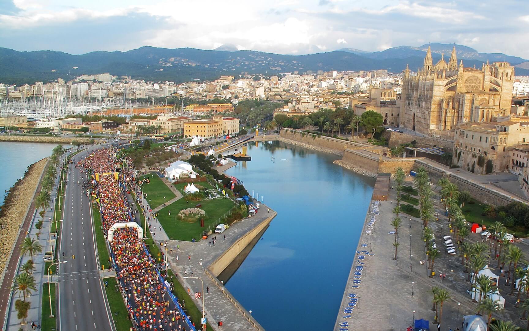 Maratón de Palma de Mallorca. Vista aérea