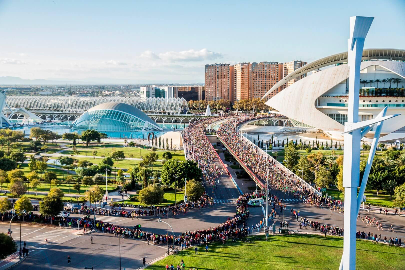 Maratón de Valencia. Vista aérea