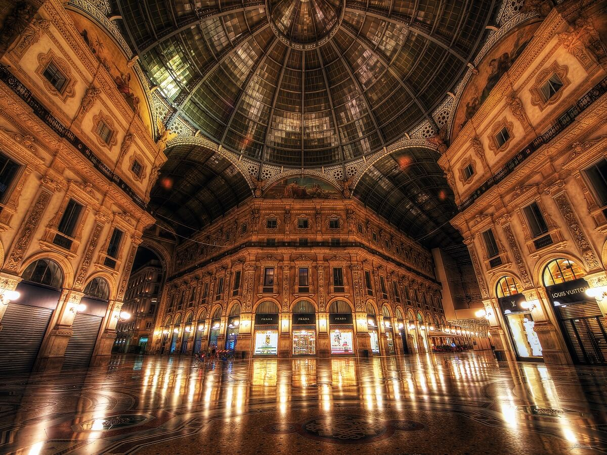 The Galleria Vittorio Emanuele II in Milan.
