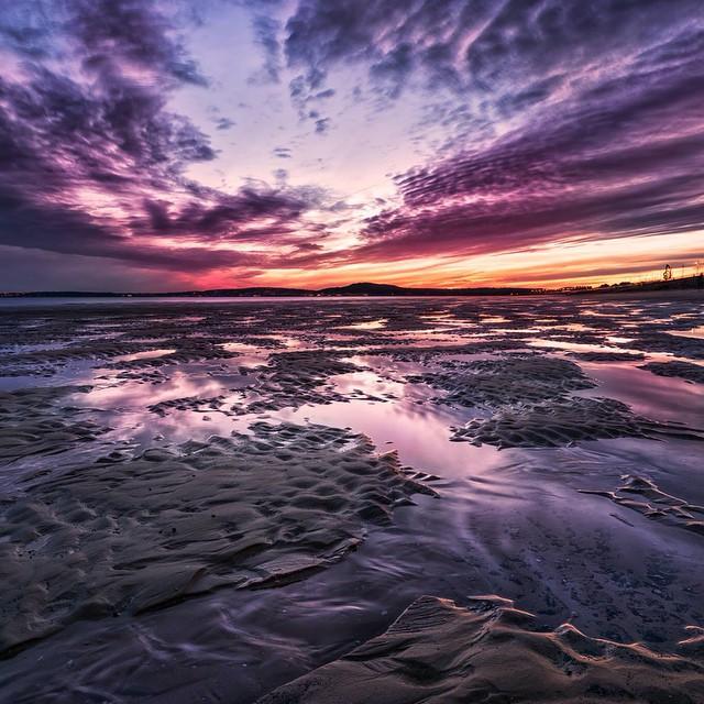 Sunset at Averavon Beach.