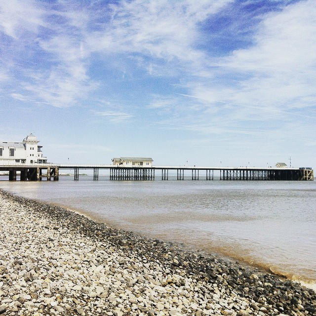One of the best beaches near Cardiff great for fossil hunting - Penarth Beach.
