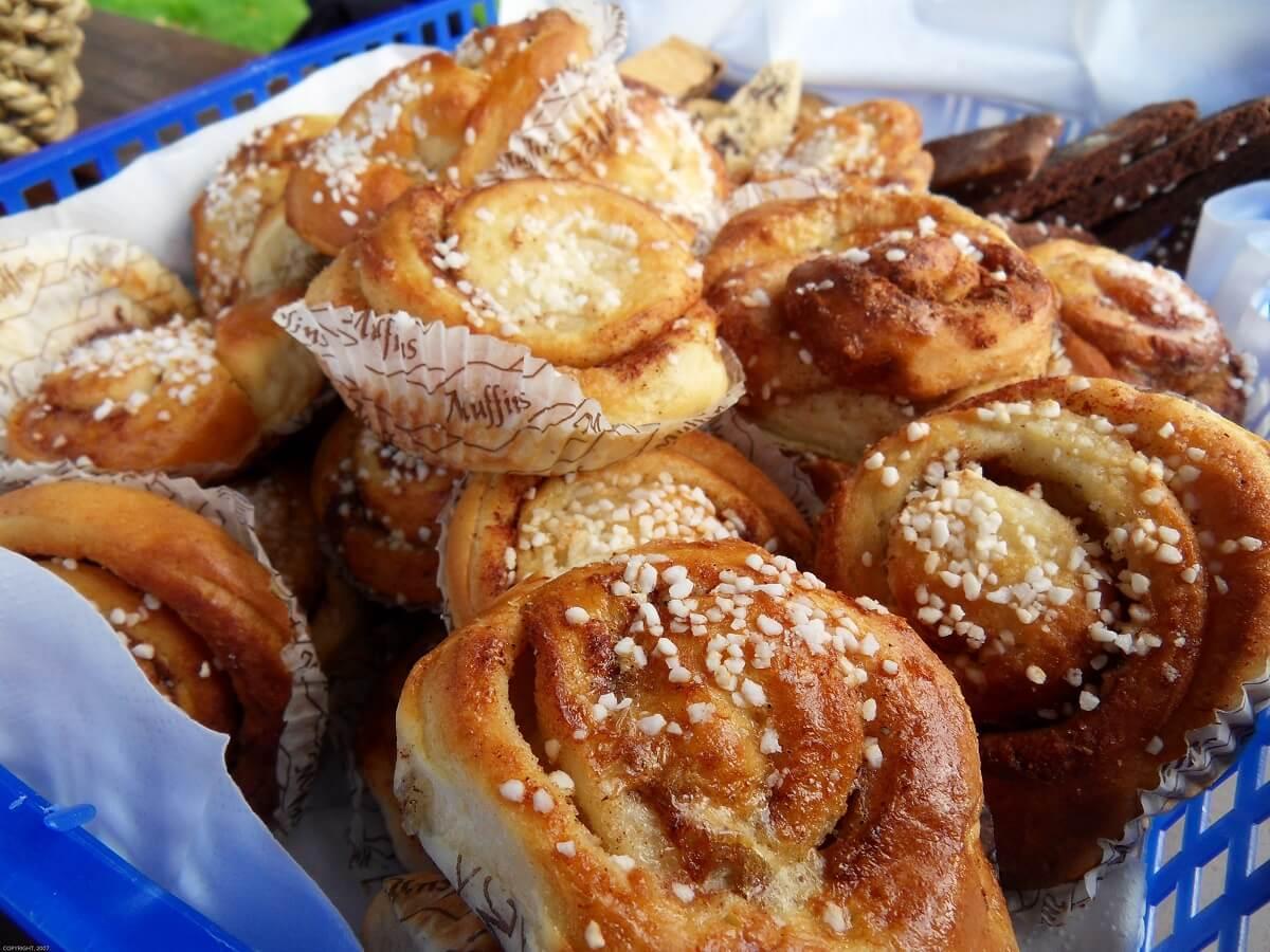 Cinnamon buns in Sweden