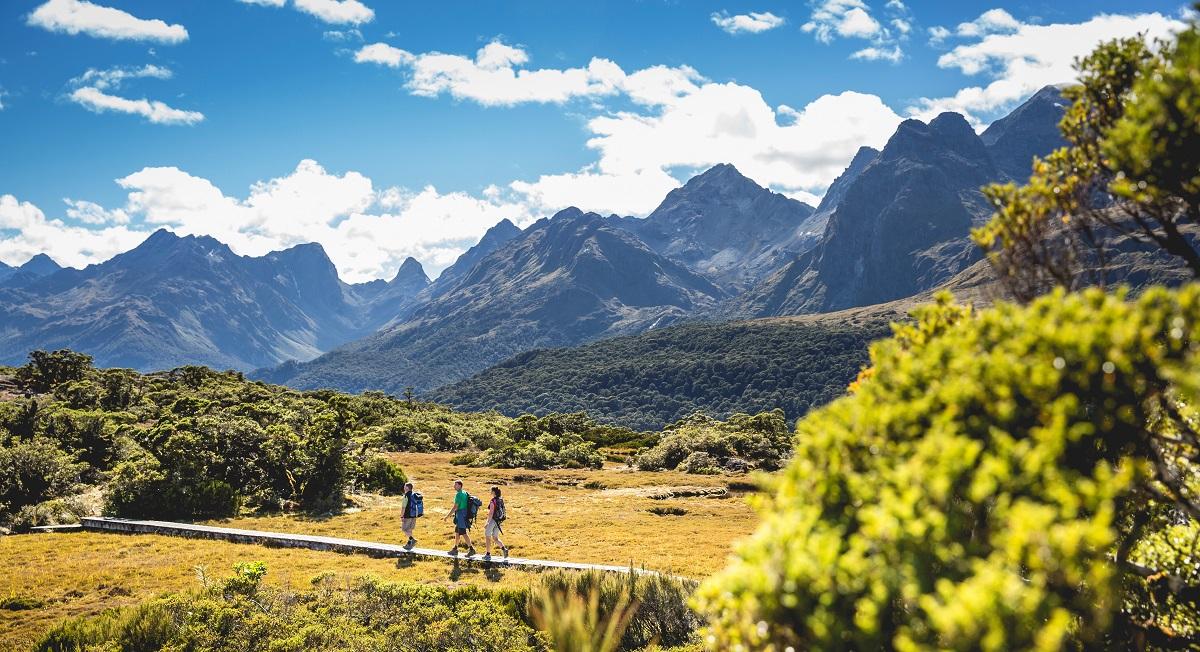 hoteles para senderistas-fiordland-vistas