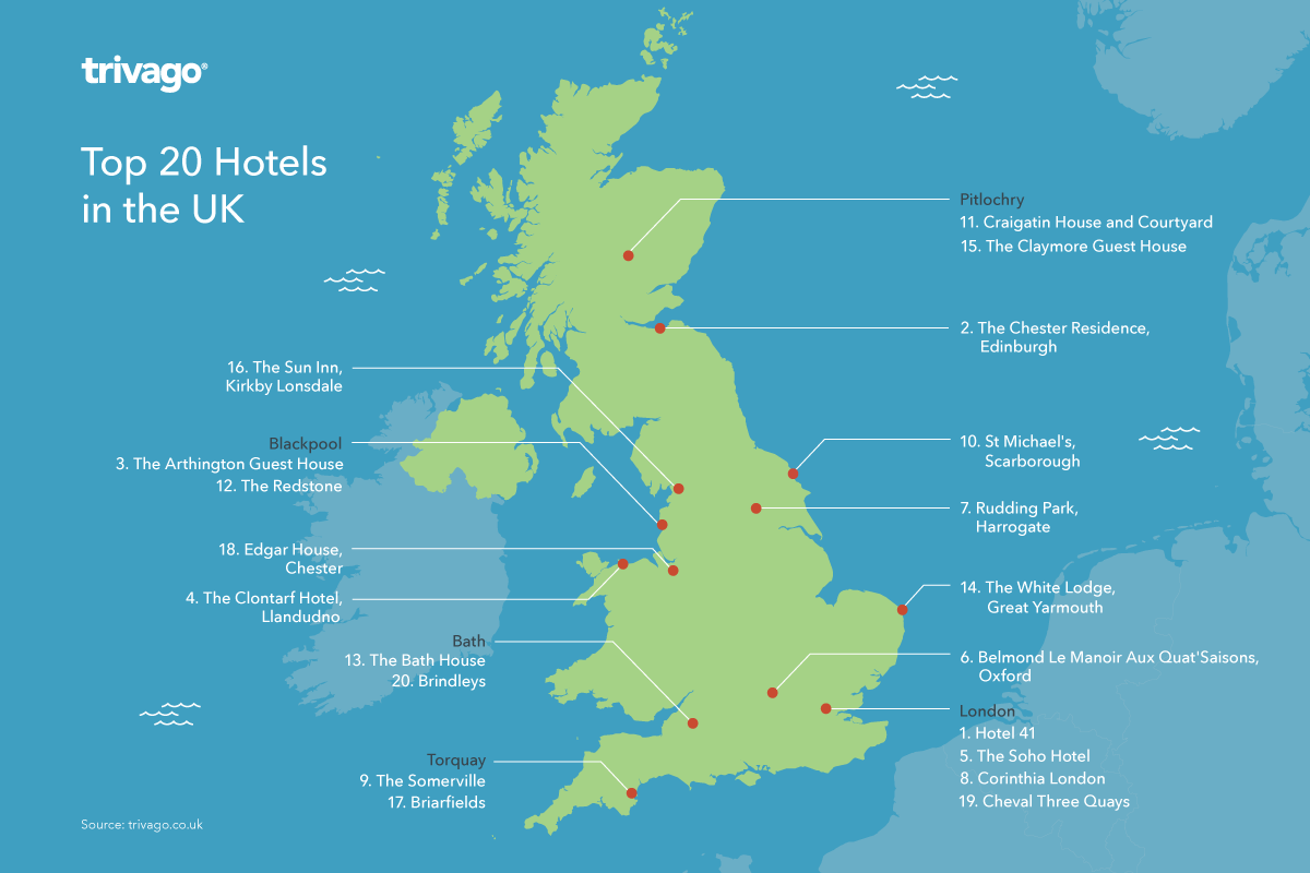 Trivago uk top hotel awards 2015 for Top 20 hotels