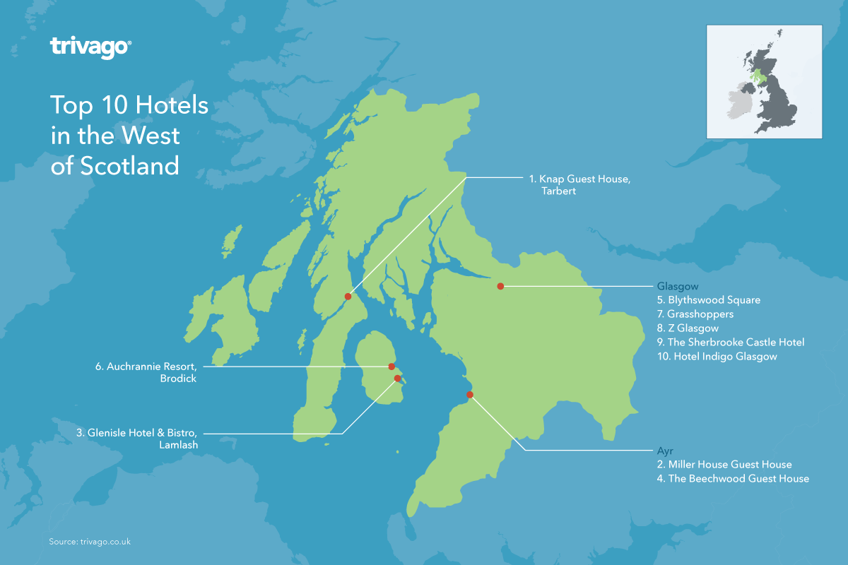 Top rated hotels UK - West Coast Scotland