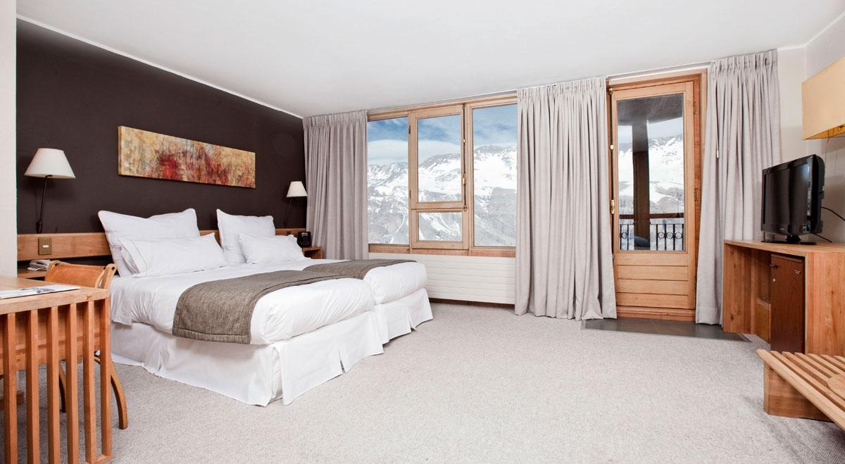 Suíte do Hotel Valle Nevado