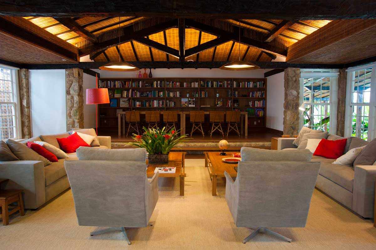 Sala de Leitura - Pousada Literária - Paraty