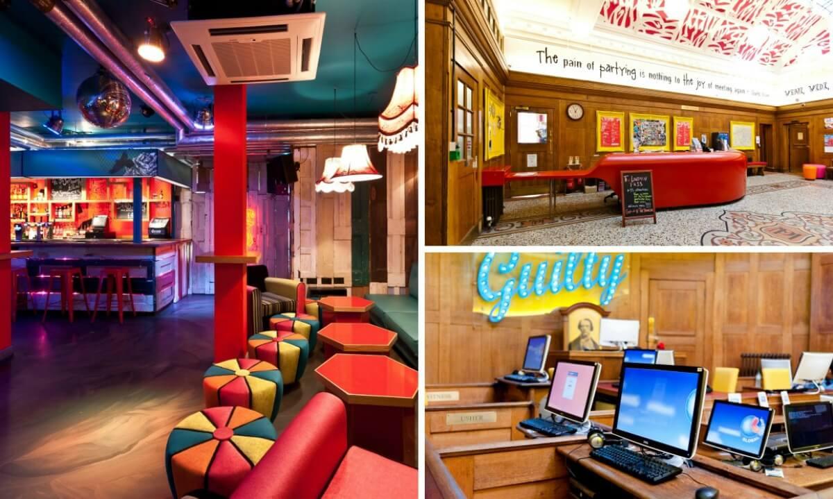 clashbar, recepção e lounge do hostel Clink78 em londres