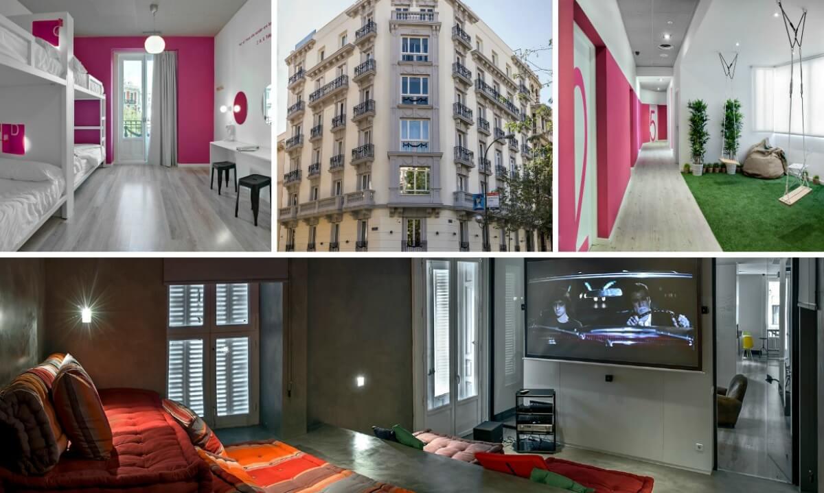áreas do u hostel em madrid na espanha