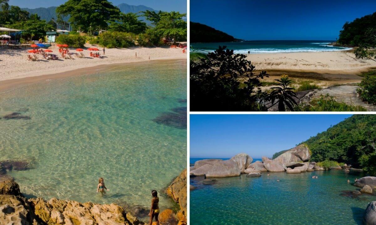 colagem praias © André Azevedo / Secretaria de Turismo Paraty