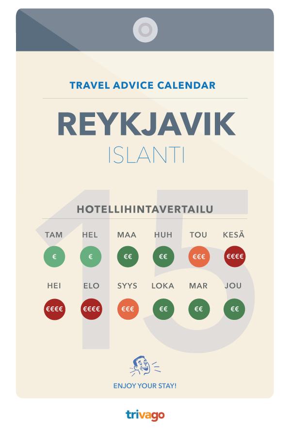 Paras aika matkustaa Reykjavikiin