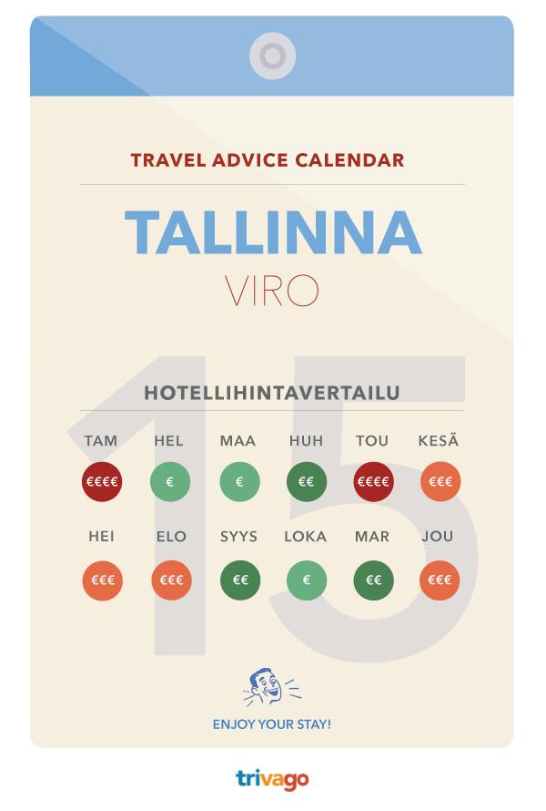 Paras aika matkustaa Tallinnaan